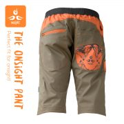 onsight Short Gray Orange Back