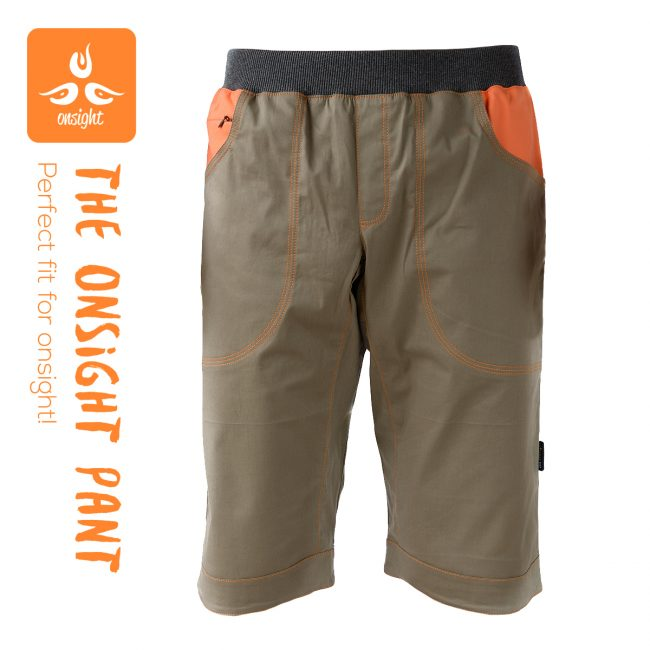 onsight Short Gray Orange Front1