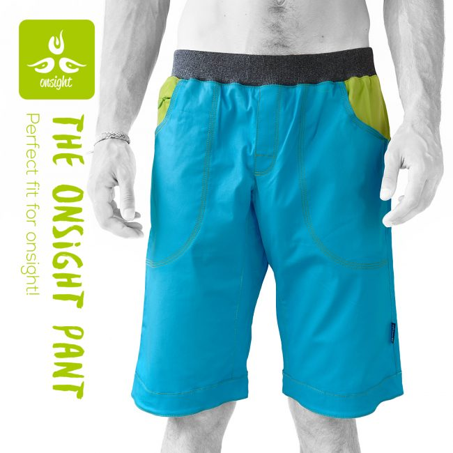 onsight Short blue lime Front1