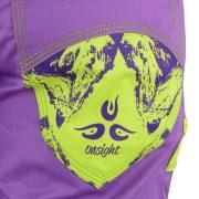 onsight Short Purple Green Detail