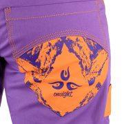 onsight girl long pant in purple detail