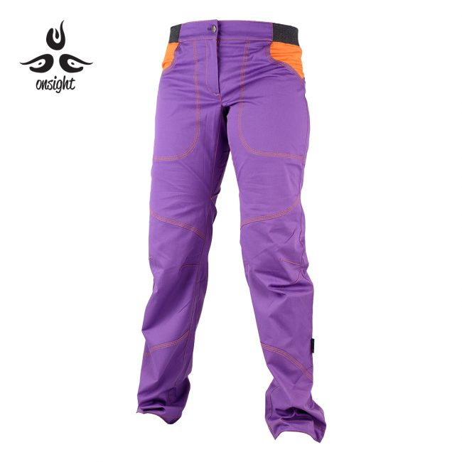 onsight girl long pant in purple front