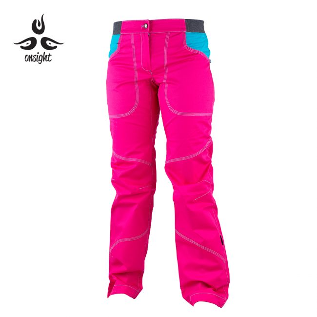 onsight girl long pant in purple pink front