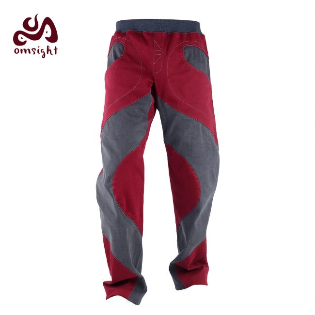 omsight Man Wine Red Gray Front
