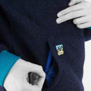 Wool Hoodie Blue det
