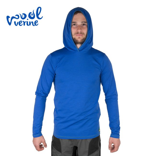 TermoWool Blue Hoody Front